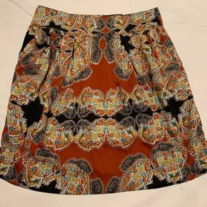 NWT W118 by Walter Baker Paisley A Line Skirt